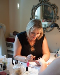 Our manicurist and pedicurist gives a customer's nails a professional well groomed look.
